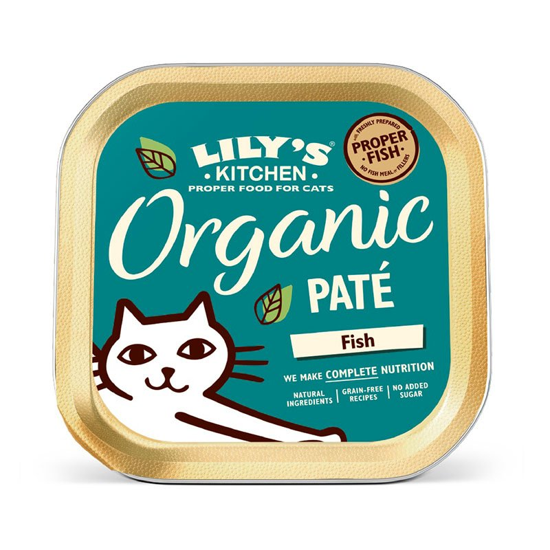 Lily's Organic Organic Fish Paté Tray Food for Cats (85g)