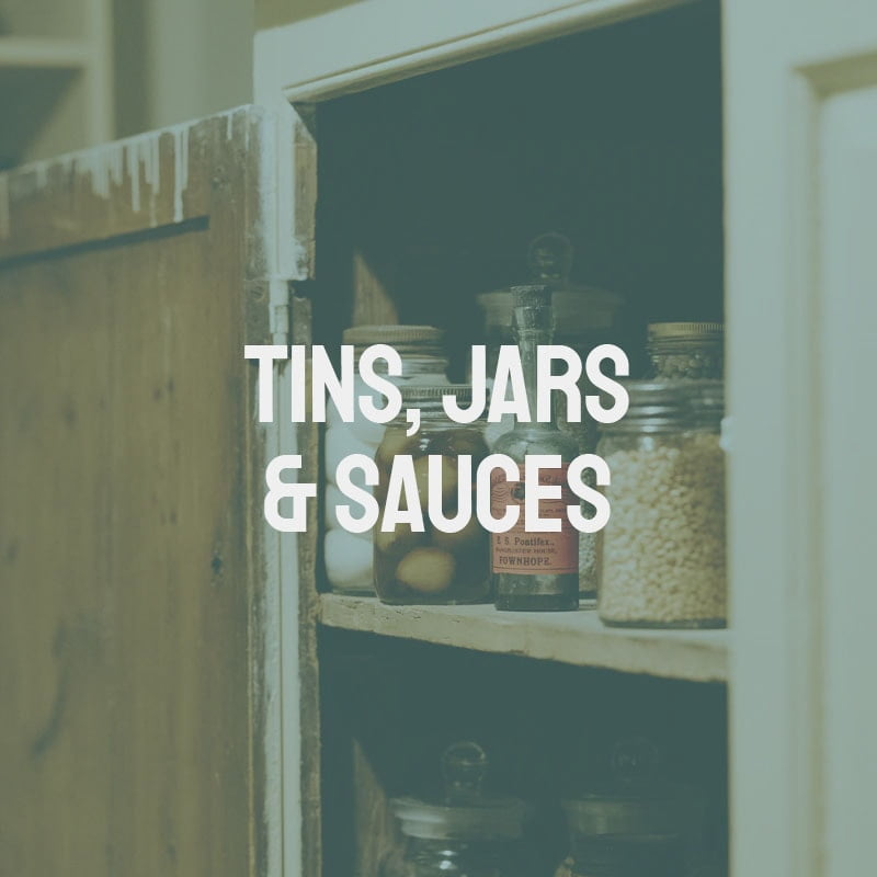 Tins, Jars & Sauces