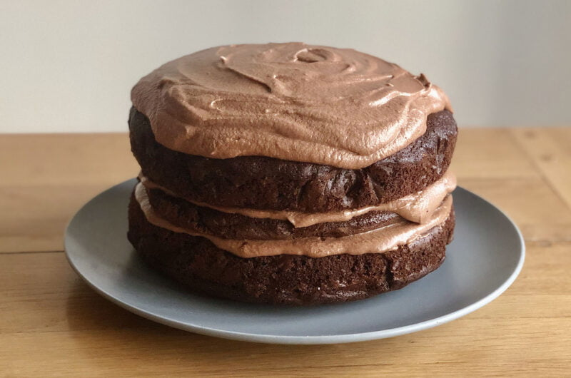 Chocolate Fudge Courgette Cake