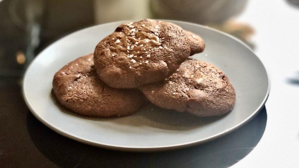 Triple Chocolate & Sea Salt Cookies