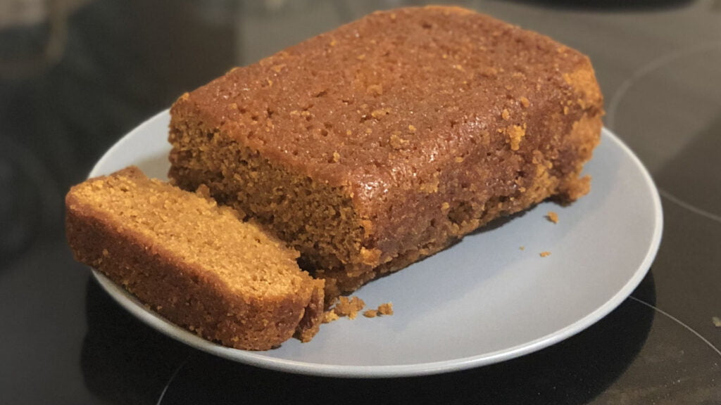 Golden Gingerbread Loaf Cake