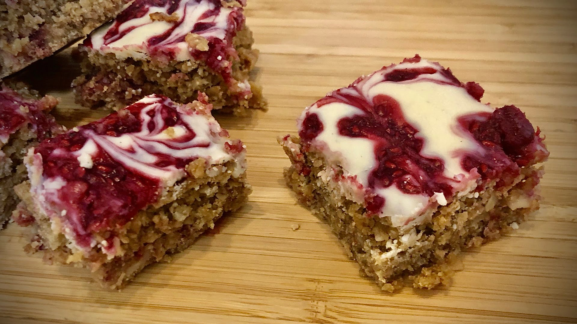 Raspberry Ripple Flapjacks