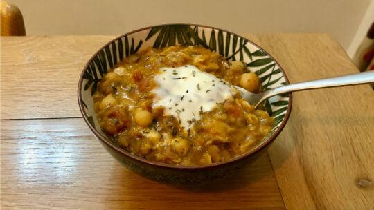 Easy Lentil & Chickpea Dhal Recipe