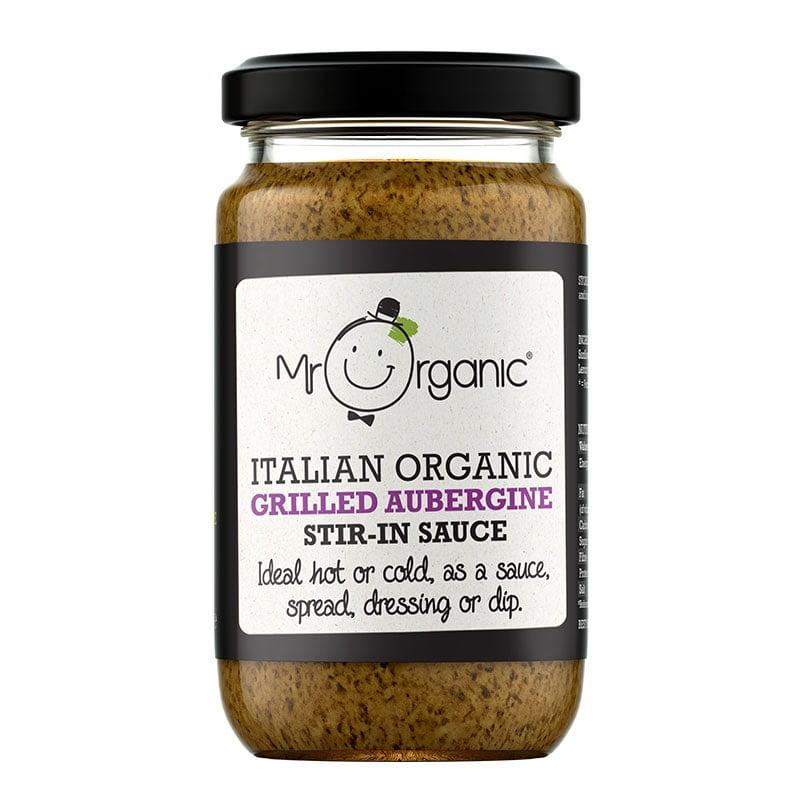 Mr Organic Grilled Aubergine Add in Sauce (190g)