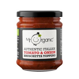 Mr Organic Authentic Italian Tomato & Red Onion Bruschetta Topping (200ml)