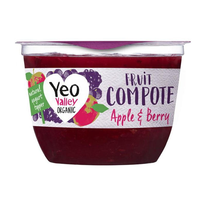 Yeo Valley Organic Apple & Berry Fruit Compote (220g)
