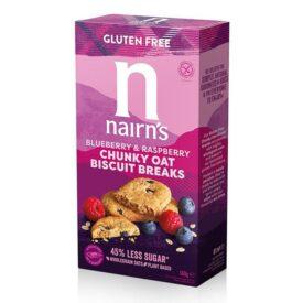 Nairn's Gluten Free Blueberry & Raspberry Biscuit Break Chunky (160g)
