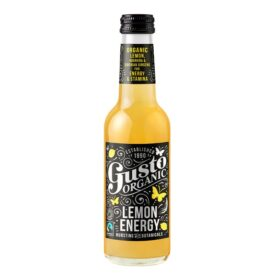 Gusto Organic Lemon Energy Drink – Made in Devon (250ml)
