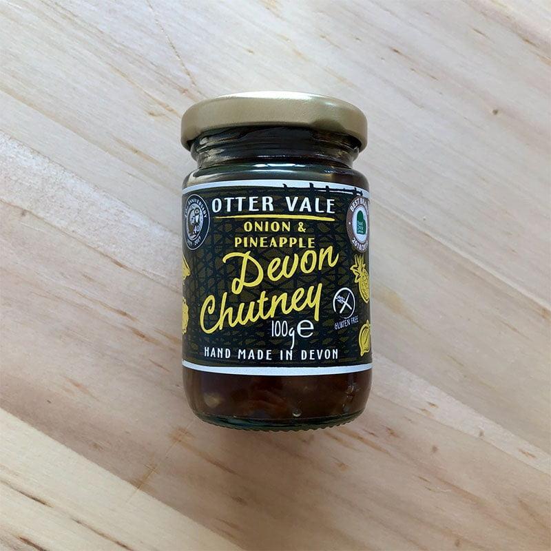 Otter Vale Handmade Devon Onion & Pineapple Chutney - Gluten Free (100g Mini Jar)