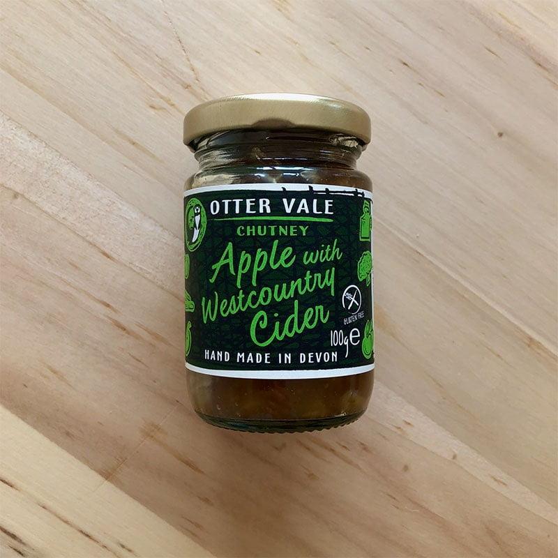 Otter Vale Handmade Apple with Westcountry Cider Chutney - Gluten Free (100g Mini Jar)