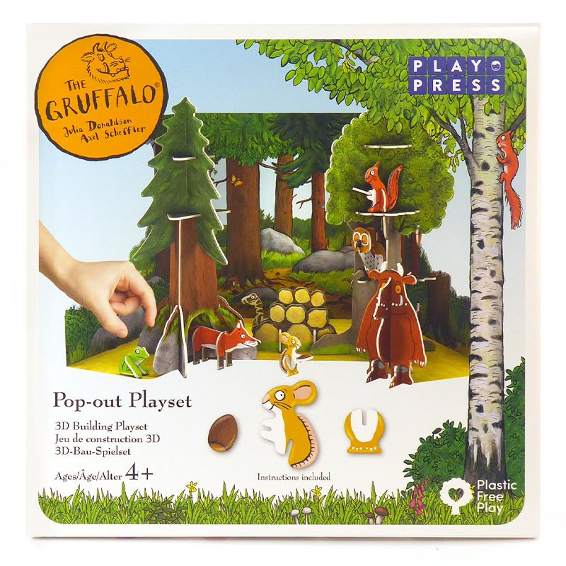 Playpress The Gruffalo Pop-Out Eco-Friendly Playset (4+)