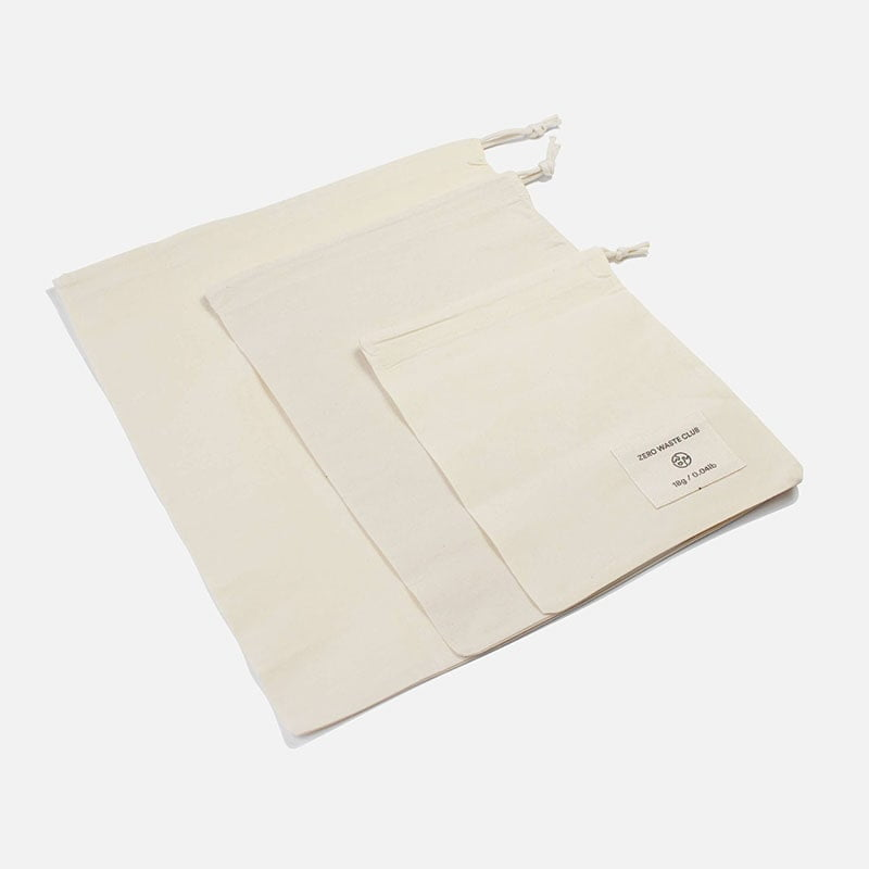 Organic Cotton Produce Bags (3 Pack) By Zero Waste Club