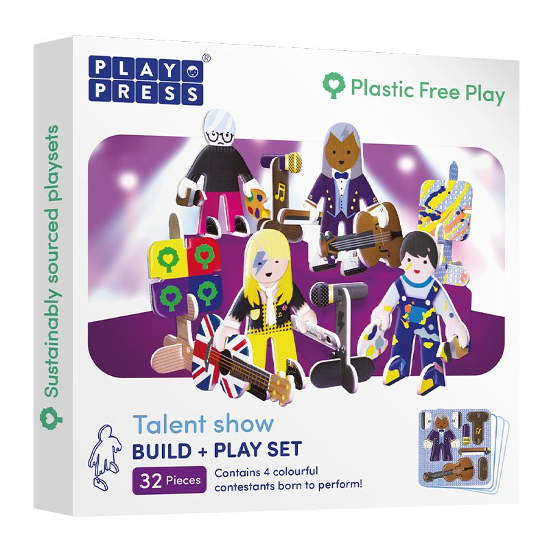 Playpress Talent Show Pop-Out Eco-Friendly Playset (4+)