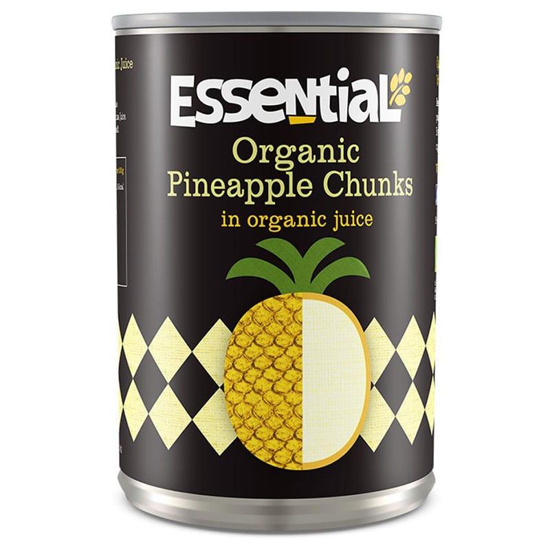 Essential Trading Organic Pineapple Chunks in Juice (400g)