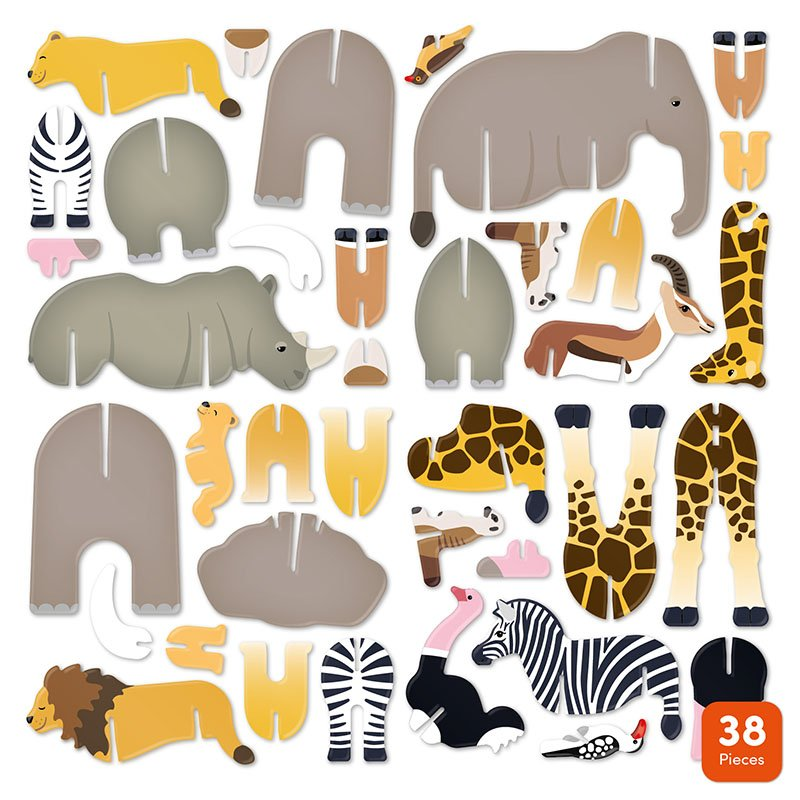Playpress Savannah Animals Pop-Out Eco-Friendly Playset (4+) 8