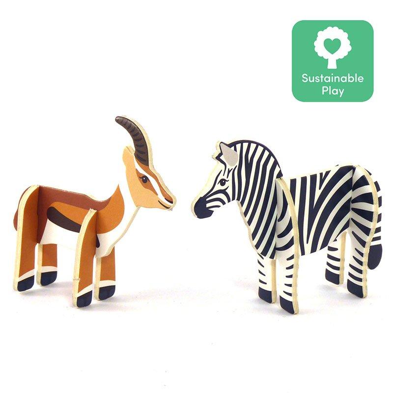 Playpress Savannah Animals Pop-Out Eco-Friendly Playset (4+) 6