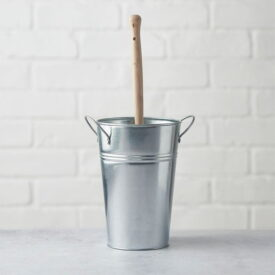 Eco Living Toilet Brush Holder - Silver (No Toilet Brush)