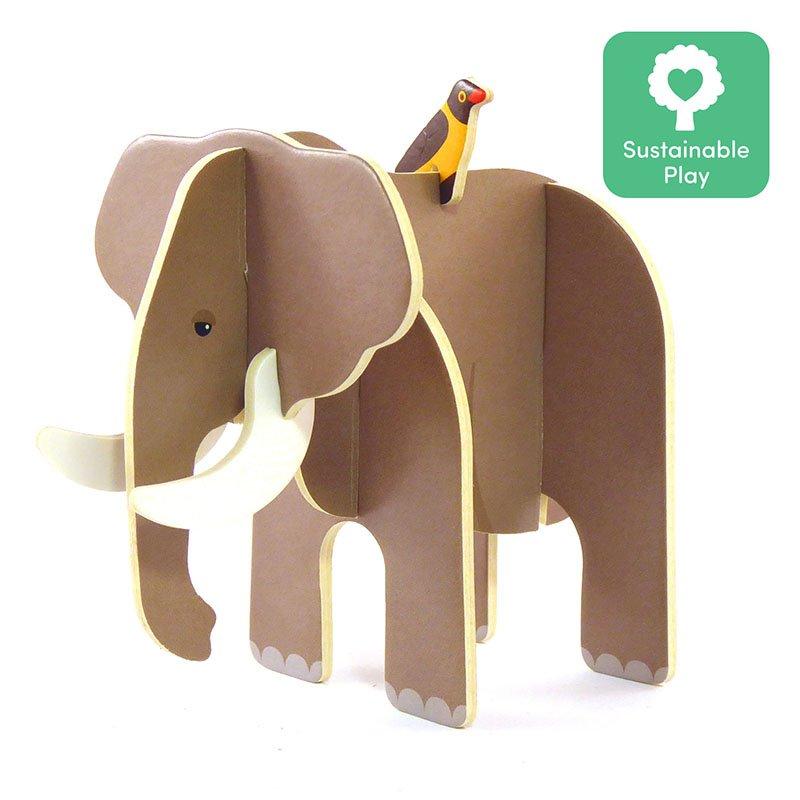 Playpress Savannah Animals Pop-Out Eco-Friendly Playset (4+) 5
