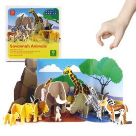 Playpress Savannah Animals Pop-Out Eco-Friendly Playset (4+) 2