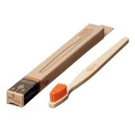 Eco Living 100% Plant-Based Beech Wood Toothbrush - Orange