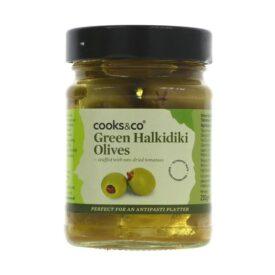 Cooks & Co Green Halkidiki Olives (230g)