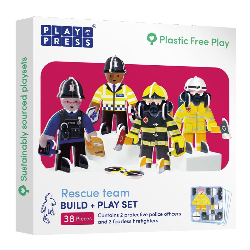 Playpress Rescue Team Pop-Out Eco-Friendly Playset (4+)