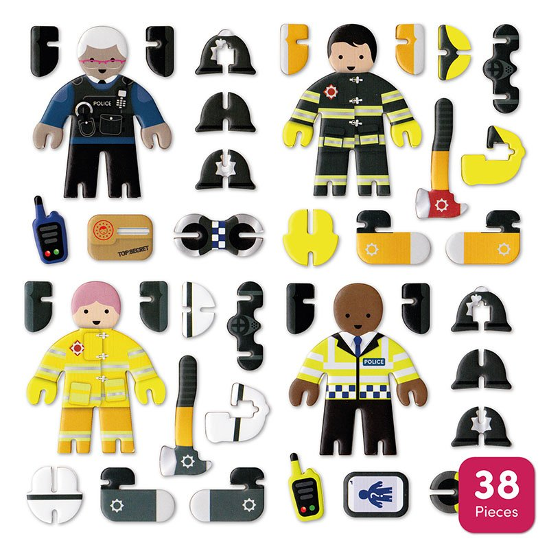 Playpress Rescue Team Pop-Out Eco-Friendly Playset (4+) 5
