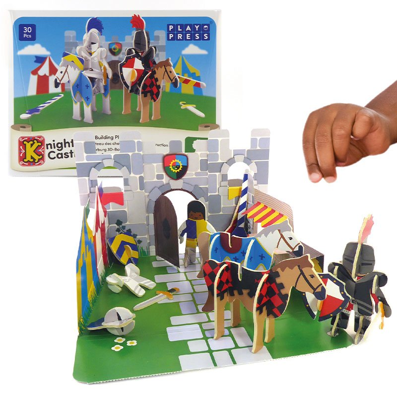 Playpress Knights Castle Pop-Out Eco-Friendly Playset (4+)