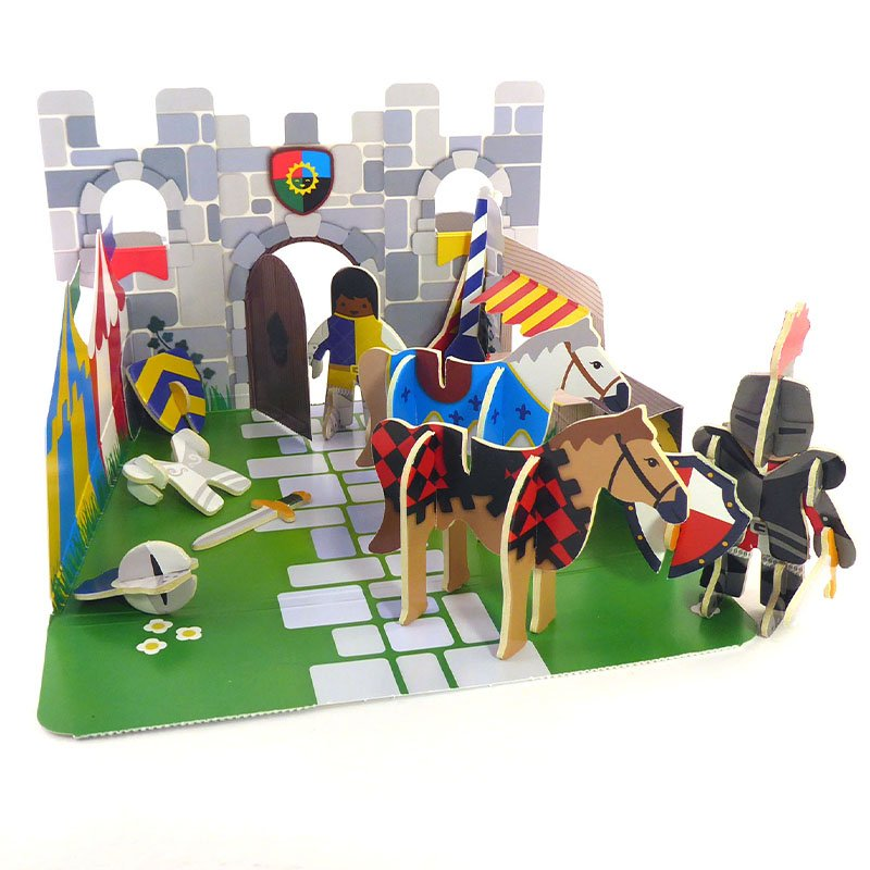 Playpress Knights Castle Pop-Out Eco-Friendly Playset (4+) 5