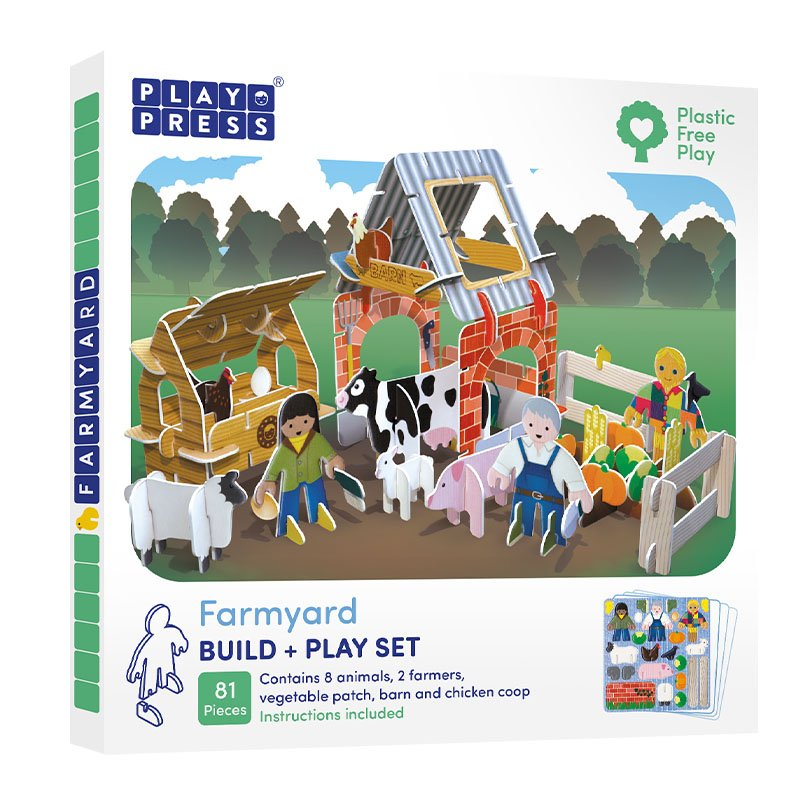 Playpress Farmyard Pop-Out Eco-Friendly Playset (4+)
