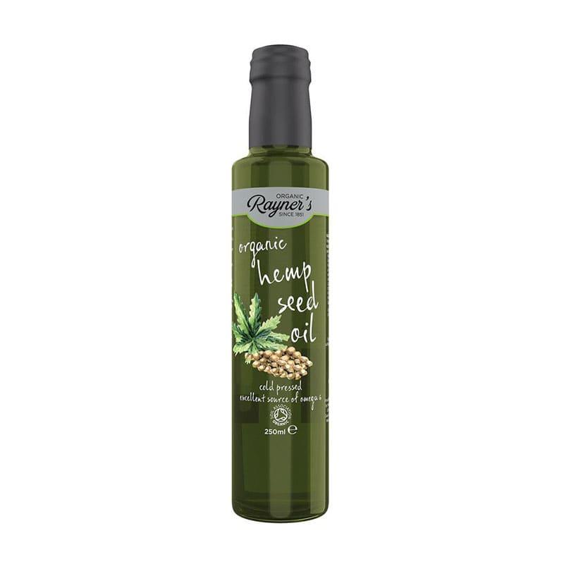 Rayners Organic Cold Pressed Hemp Seed Oil (250ml)-min
