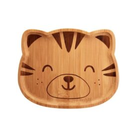 Tiger Bamboo Plate by Sass & Belle