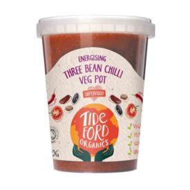Tideford Organic Three Bean Chilli Veg Meal Pot (360g)