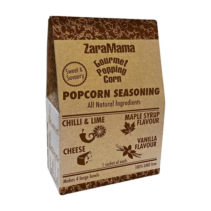 ZaraMama Natural Sweet & Savoury Popcorn Seasoning (4 x 10g)