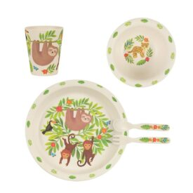 Sloth & Friends Bamboo Children's Tableware Set by Sass & Belle
