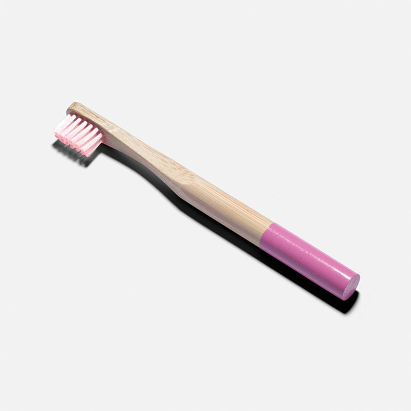 Zero Waste Club Kid's Zero Waste Bamboo Toothbrush - Pastel Pink