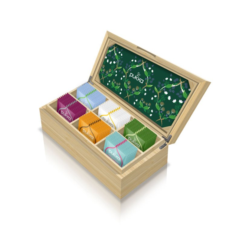 Pukka Organic Tea Discovery Bamboo Chest (with 42 Bags) 4