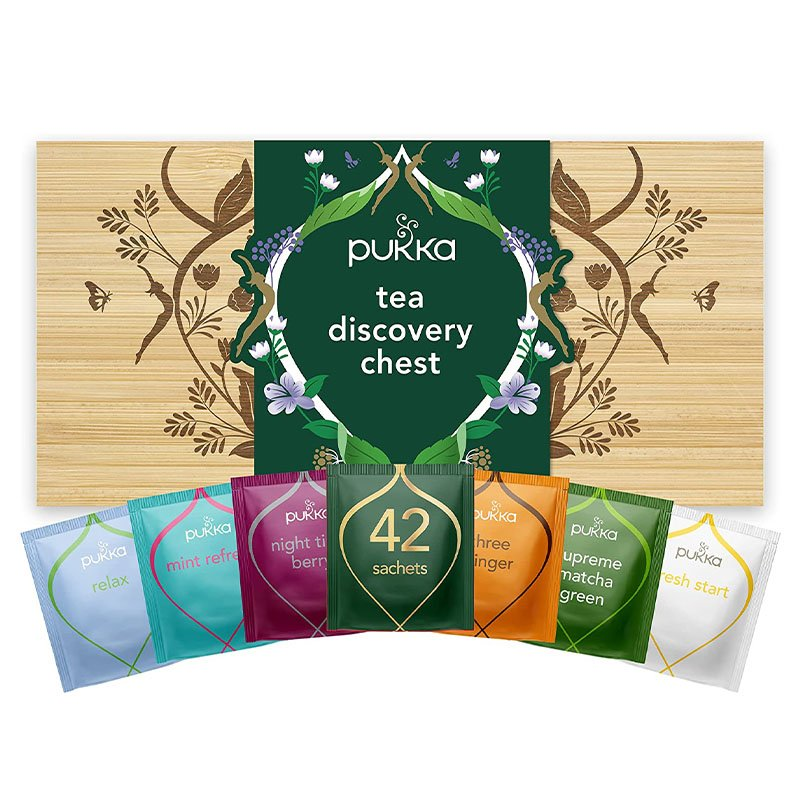 Pukka Organic Tea Discovery Bamboo Chest (with 42 Bags) 2