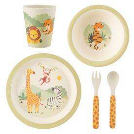Savannah Safari Bamboo Children's Tableware Set by Sass & Belle