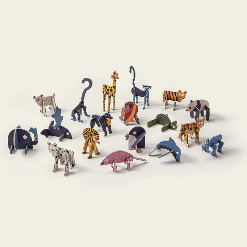 PLAYin Choc Organic Dairy Free Chocolate + Endangered Animals Surprise Plastic-Free Toy (20g) 3