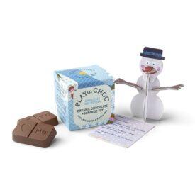 PLAYin Choc Organic Dairy Free Chocolate + Christmas Surprise Plastic-Free Toy (20g)