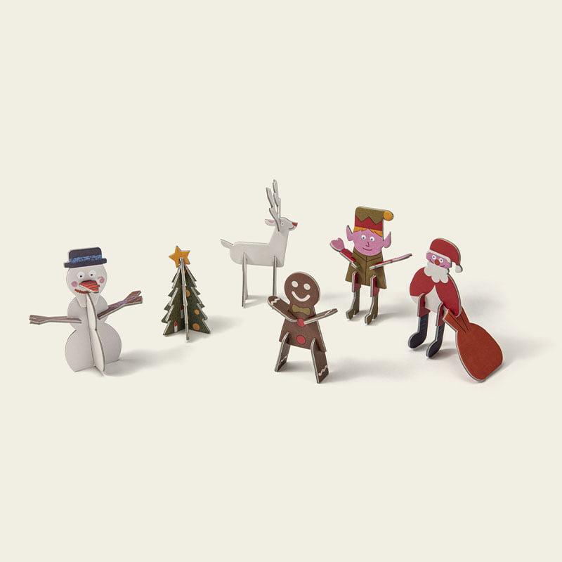 PLAYin Choc Organic Dairy Free Chocolate + Christmas Surprise Plastic-Free Toy (20g) 3