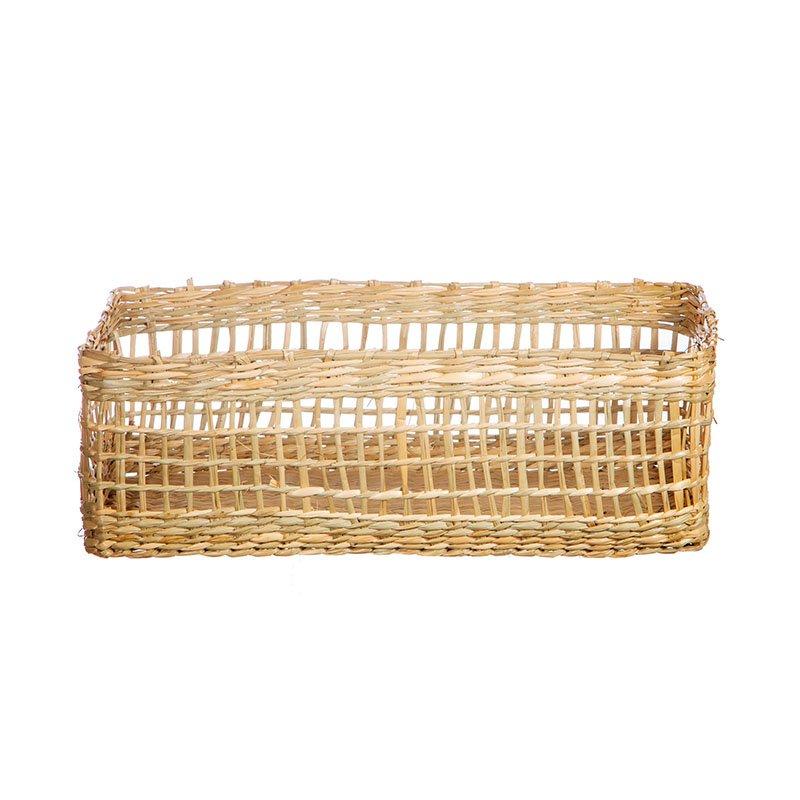 Handmade Seagrass Rectangular Basket by Sass & Belle 3
