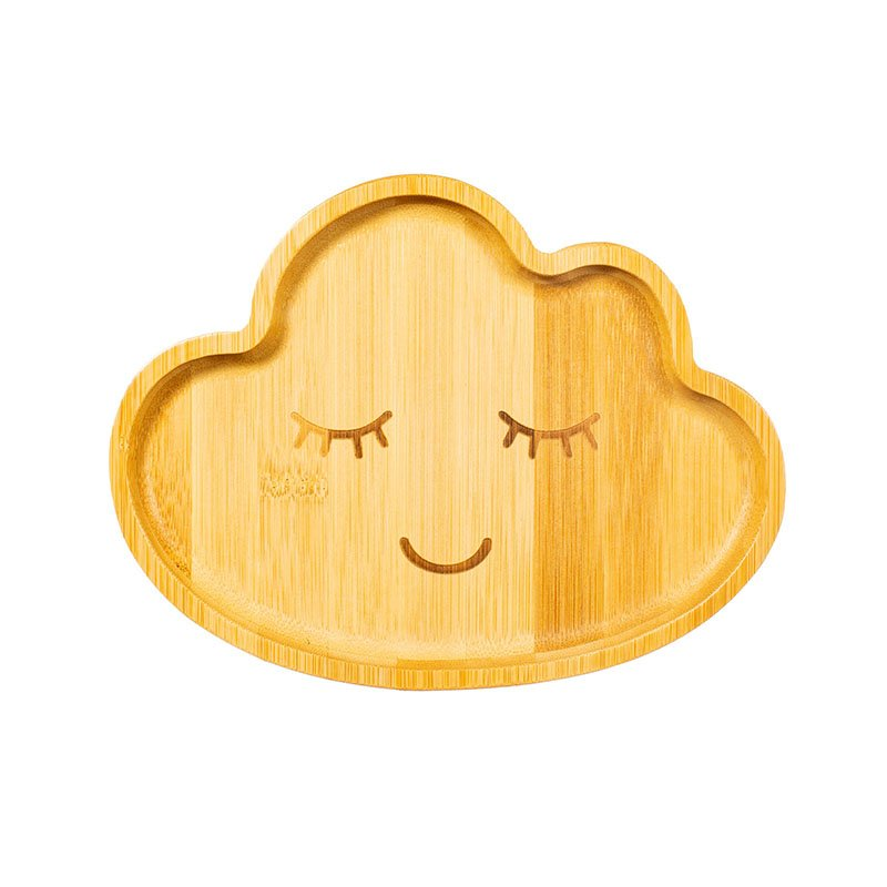 Cloud Bamboo Plate by Sass & Belle