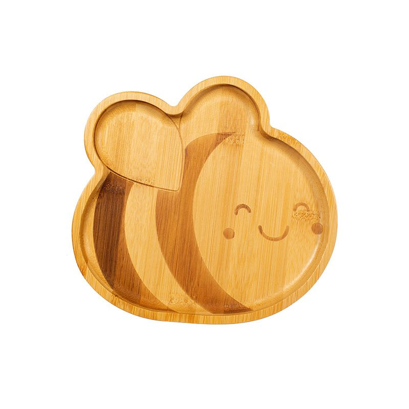 Bee Bamboo Plate by Sass & Belle