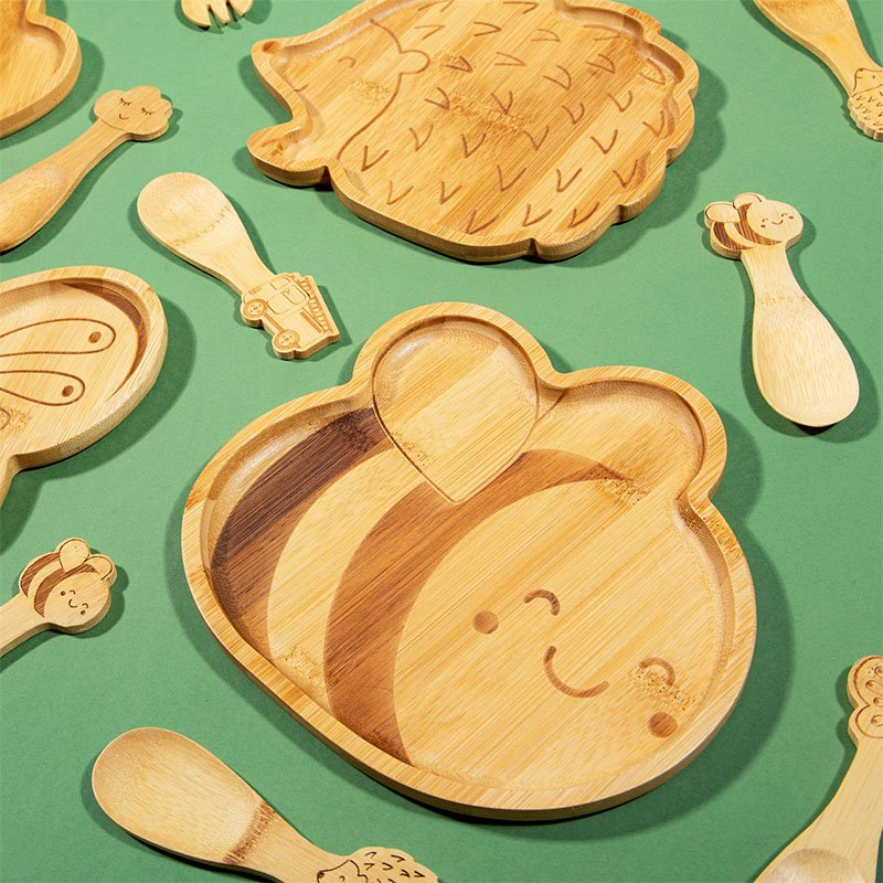 Bee Bamboo Plate by Sass & Belle 2