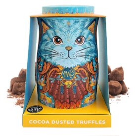 Monty Bojangles Coconut Crush Chocolate Truffles Spirit Blue Cat Gift Tin (135g)