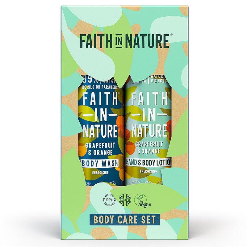 Faith In Nature Body Care Gift Set - Grapefruit & Orange Body Wash + Lotion (2 x 400ml)
