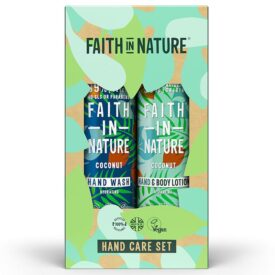 Faith In Nature Hand Care Gift Set - Coconut Hand Wash + Body Lotion (2 x 400ml)
