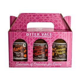 Otter Vale Chutneys for Curry Selection Gift Pack - Handmade in Devon (925g)